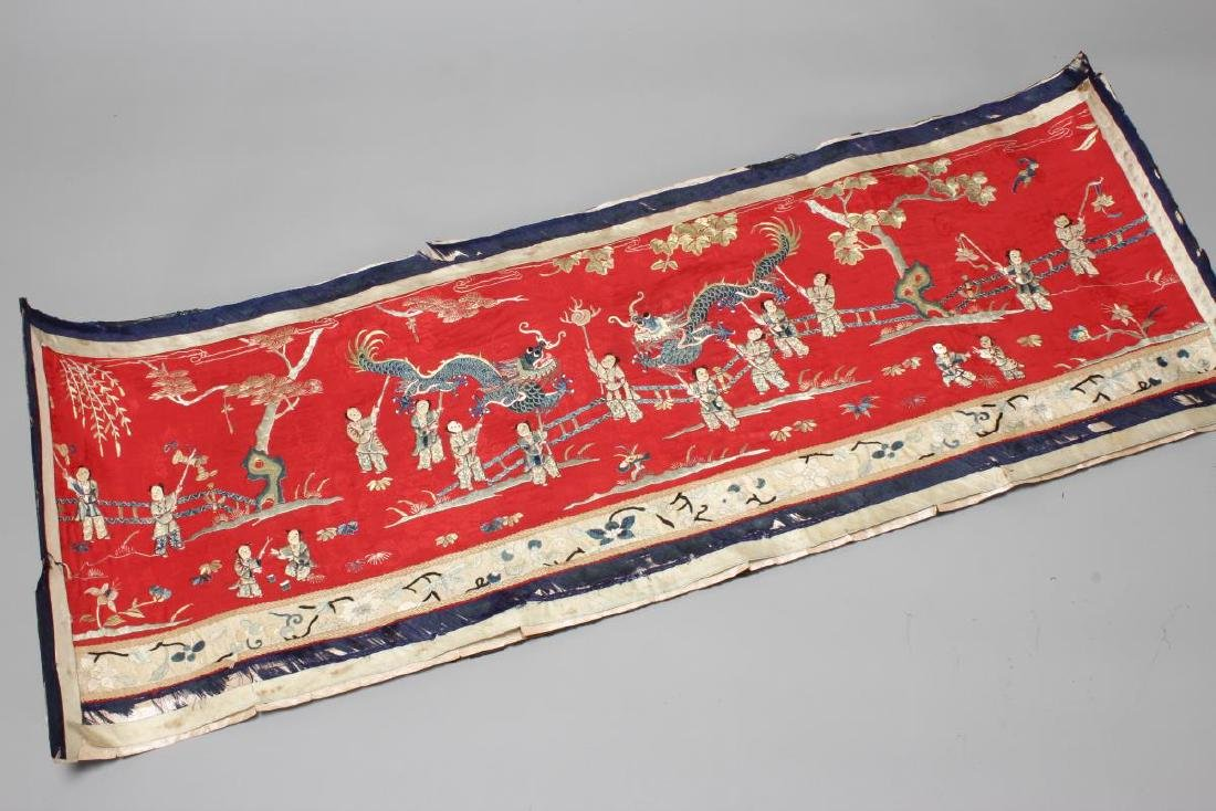 Chinese Embroidered Panel,