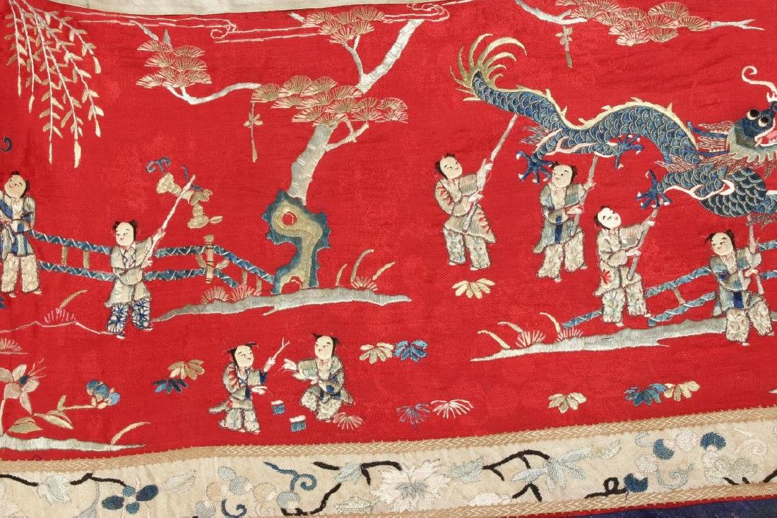 Chinese Embroidered Panel, - 2