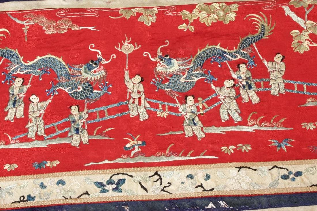 Chinese Embroidered Panel, - 3