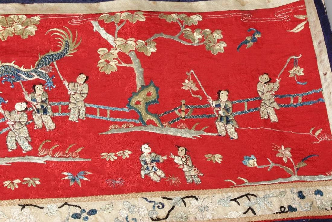Chinese Embroidered Panel, - 4