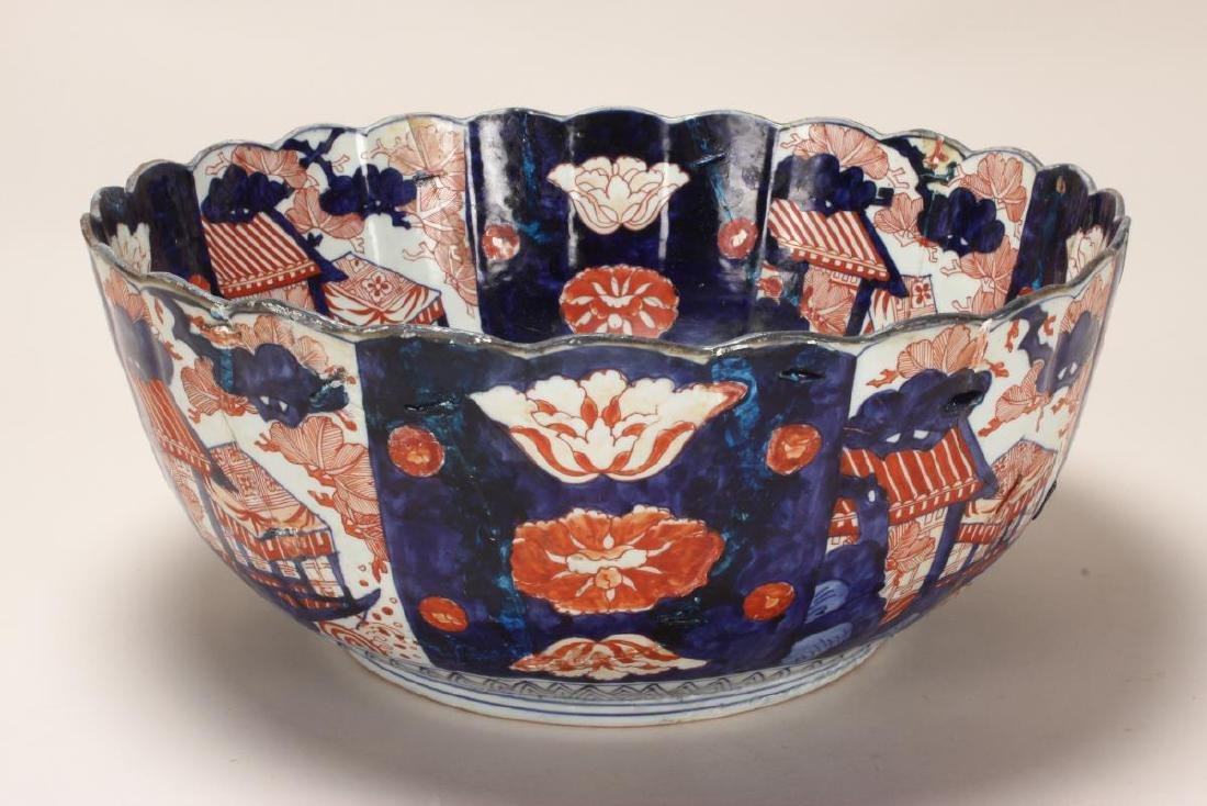Japanese Edo Period Imari Porcelain Deep Bowl,