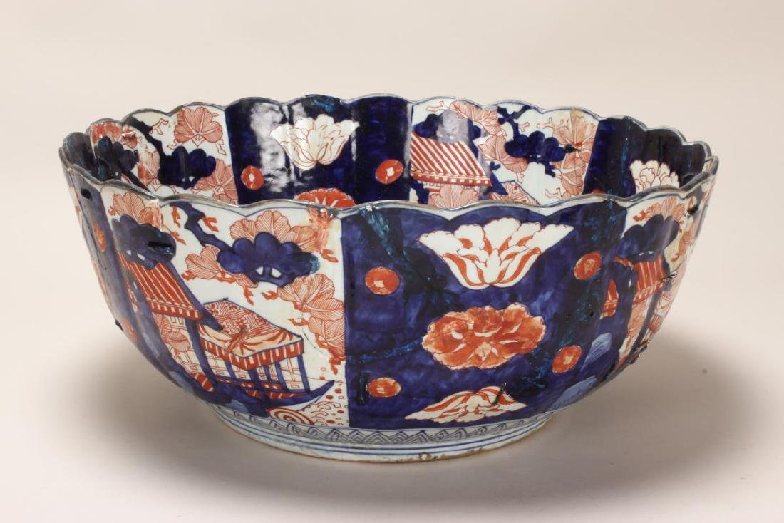 Japanese Edo Period Imari Porcelain Deep Bowl, - 2