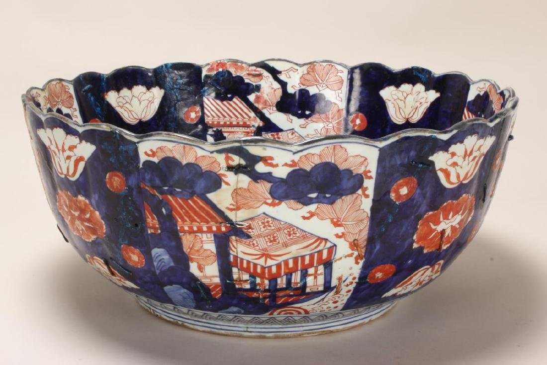 Japanese Edo Period Imari Porcelain Deep Bowl, - 3