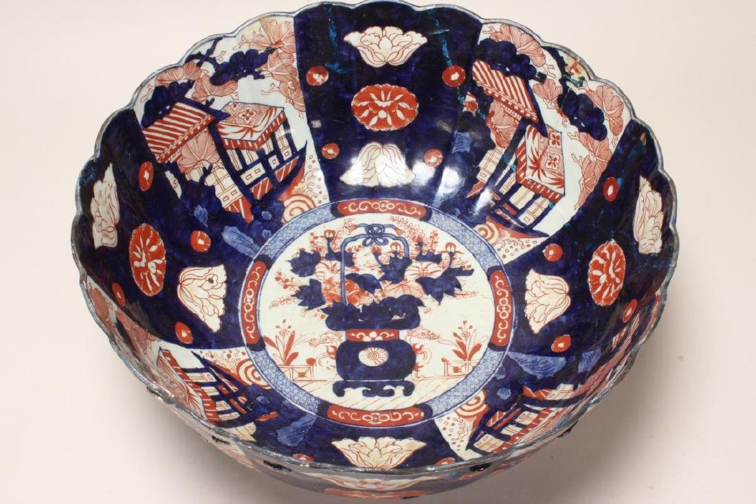Japanese Edo Period Imari Porcelain Deep Bowl, - 4