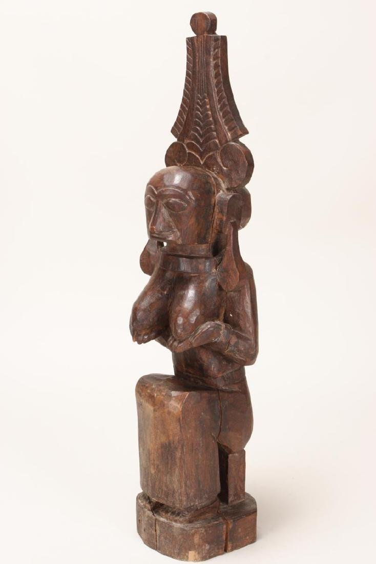 Nias Carved Wooden Fertility Figure,