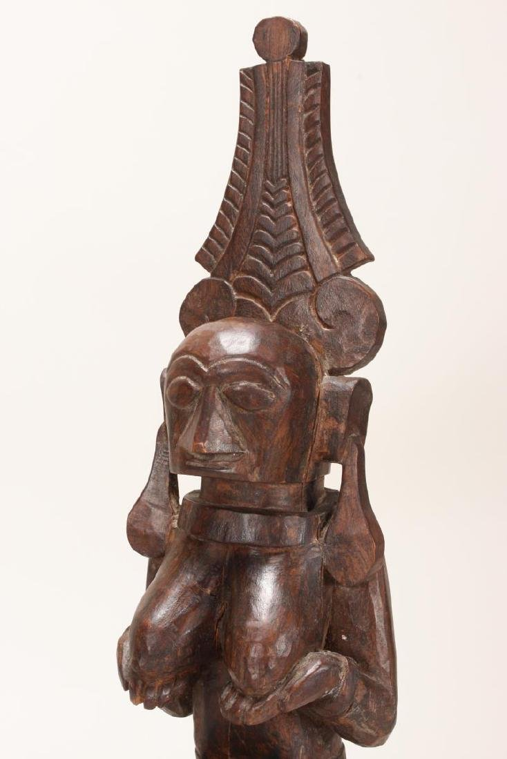 Nias Carved Wooden Fertility Figure, - 2