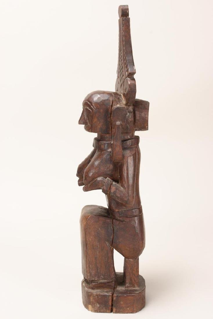 Nias Carved Wooden Fertility Figure, - 3