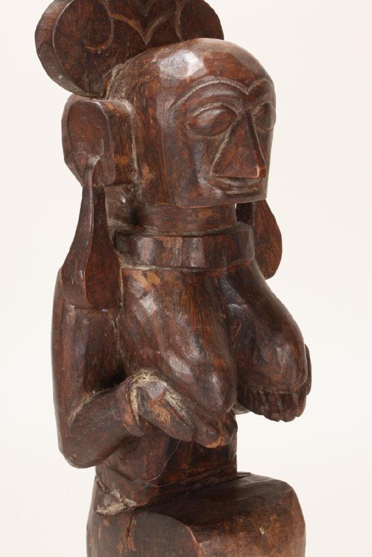 Nias Carved Wooden Fertility Figure, - 5
