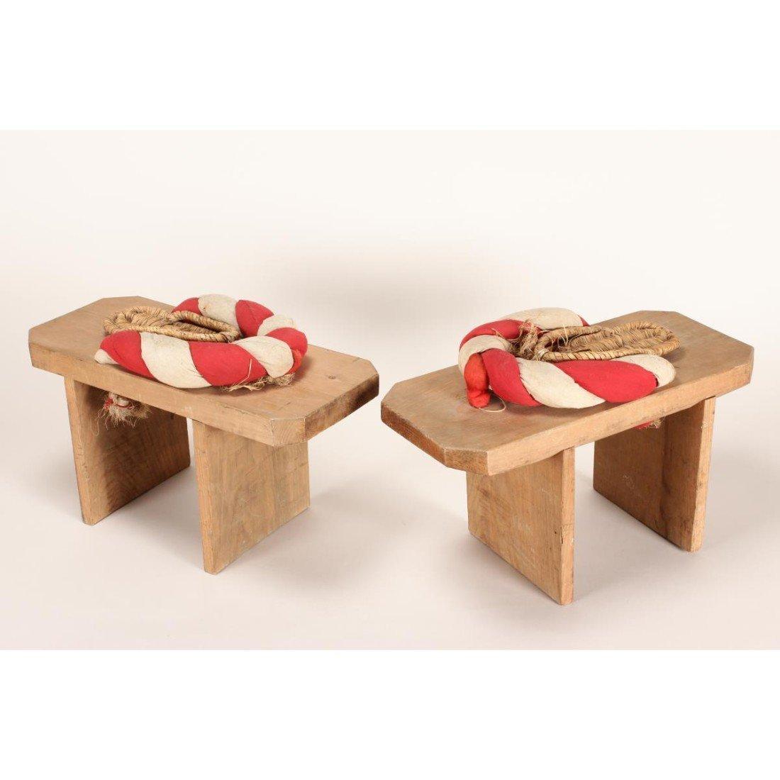 Pair of Japanese Kabuki Oversized Theatre Shoes,