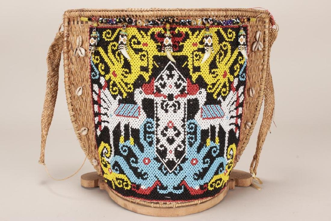 Traditional Dayak Baby Carrier, - 2