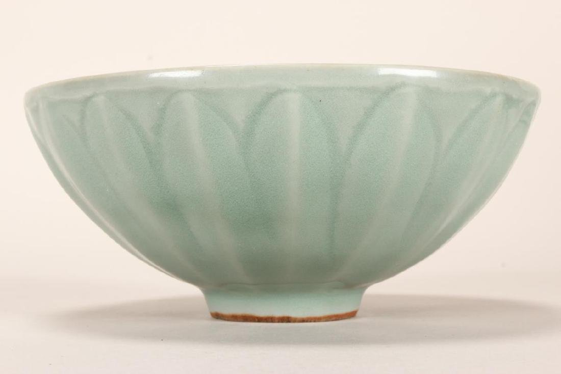Chinese Song Dynasty Longquan Glaze Lotus Bowl, - 2