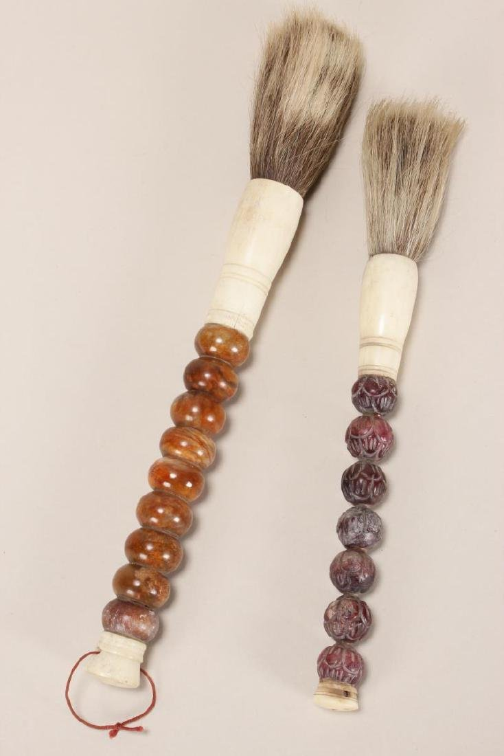Two Chinese Calligraphy Brushes,