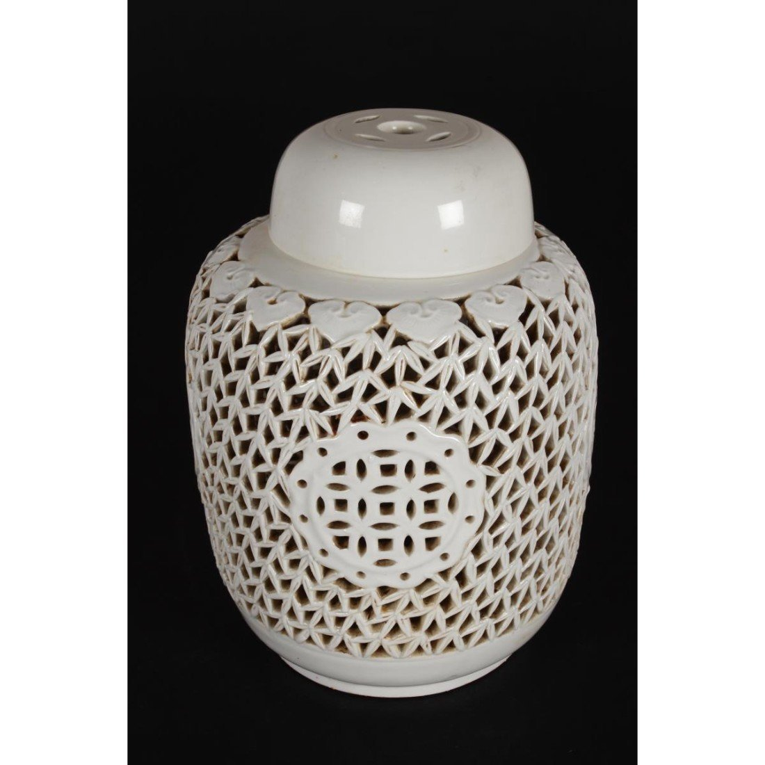 Chinese Pierced Porcelain Jar and Cover,