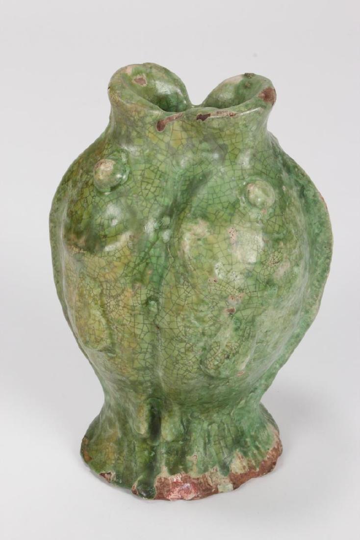 "Chinese Terracotta ""Twin Fish"" Vase,"