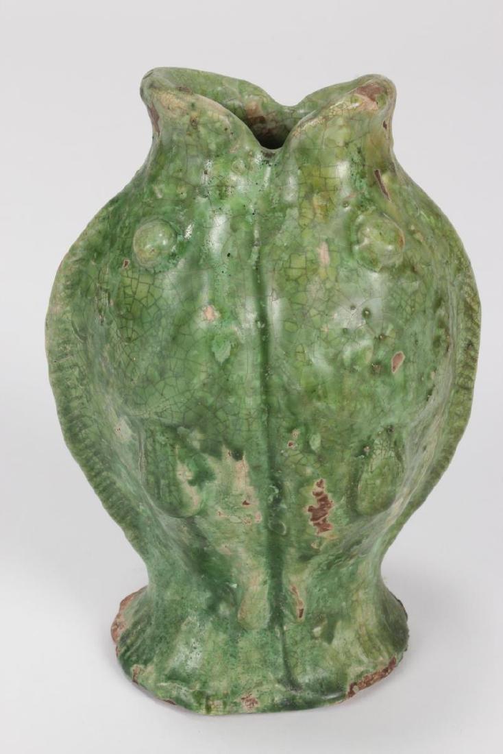 "Chinese Terracotta ""Twin Fish"" Vase, - 2"