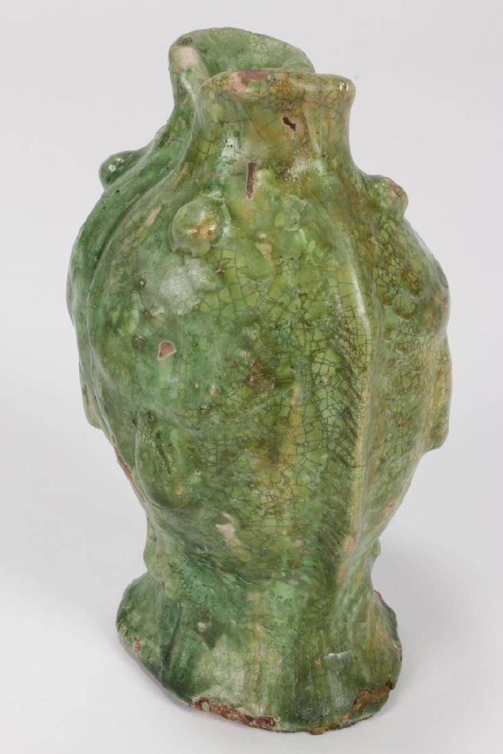"Chinese Terracotta ""Twin Fish"" Vase, - 4"