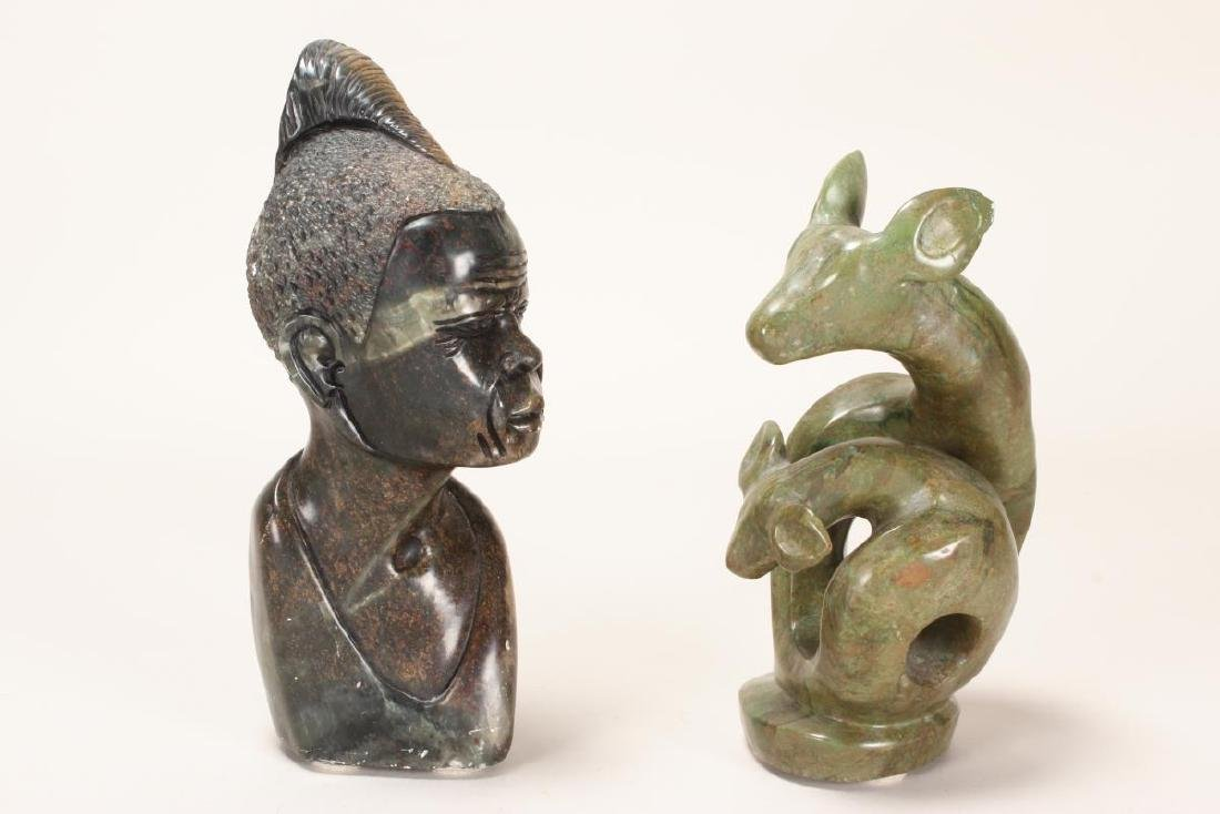 Two Carved African Shona Figures,