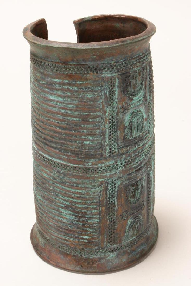 Good Nigerian Copper Armband, - 3