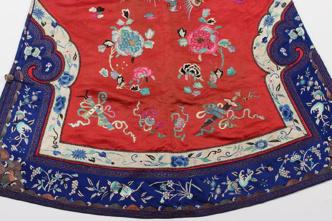 Chinese Late Qing Long Red Han Wedding Jacket, - 2
