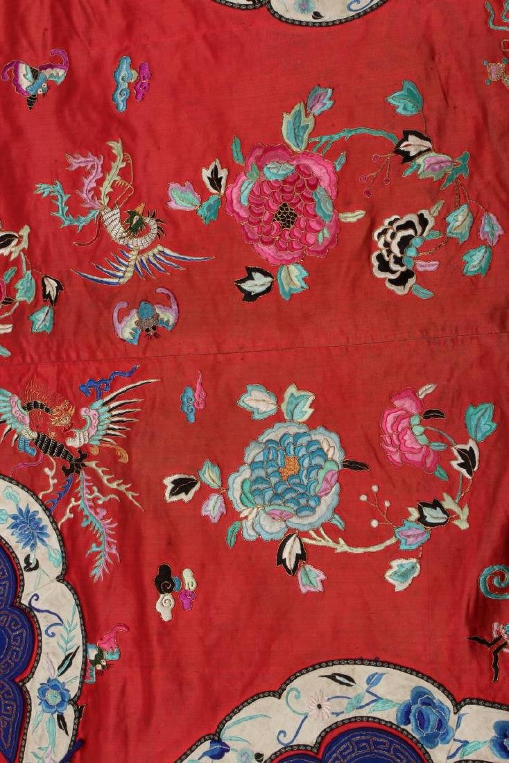 Chinese Late Qing Long Red Han Wedding Jacket, - 5