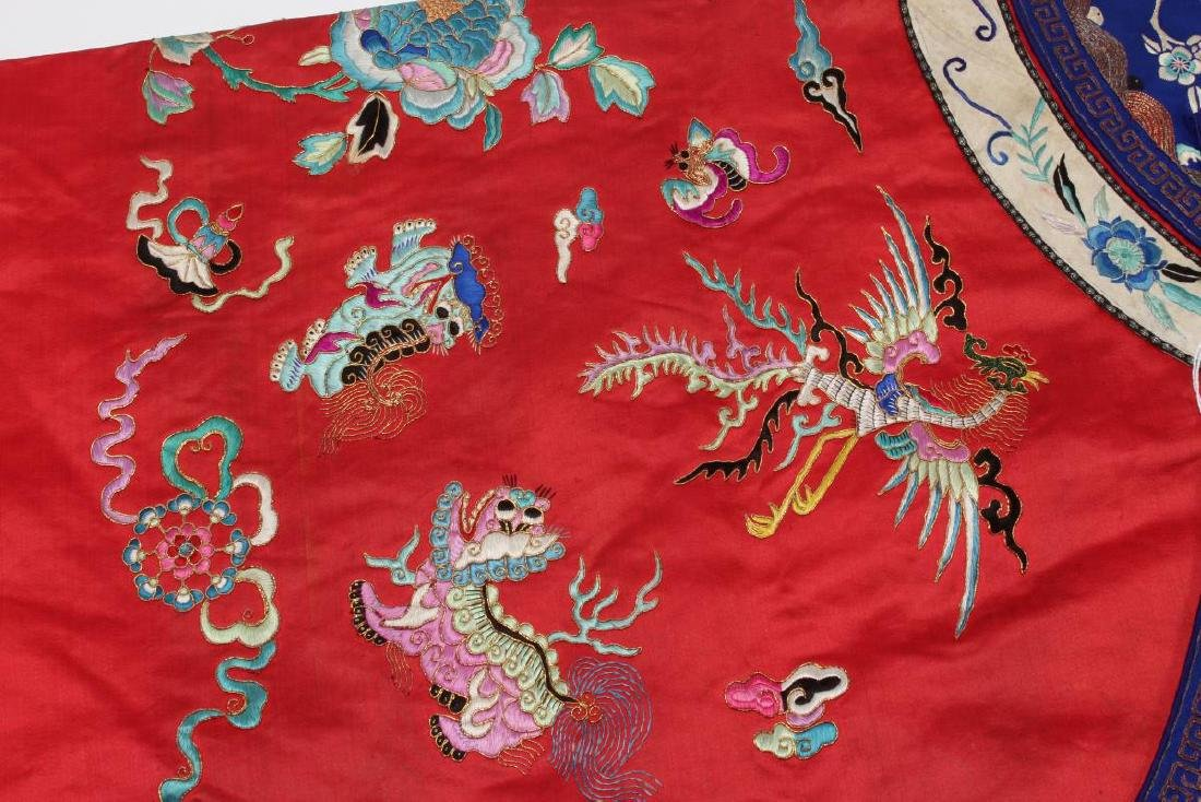 Chinese Late Qing Long Red Han Wedding Jacket, - 6