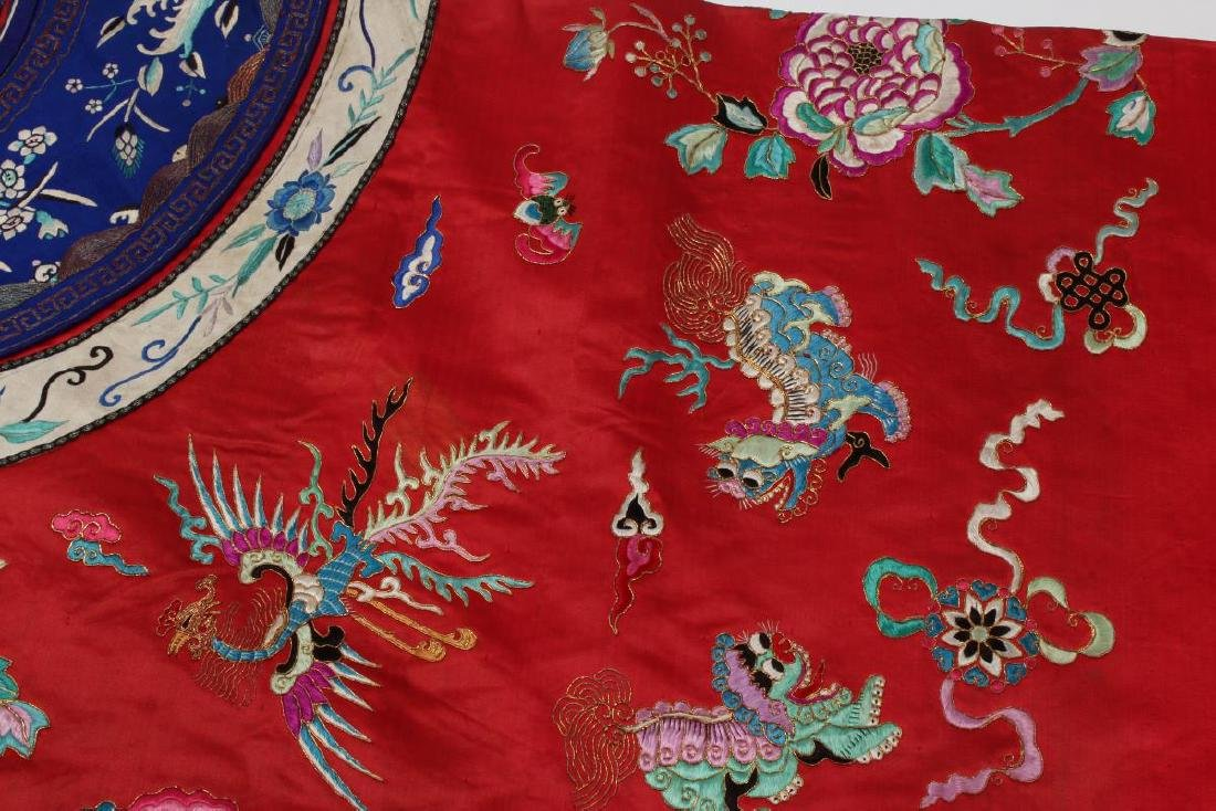 Chinese Late Qing Long Red Han Wedding Jacket, - 9