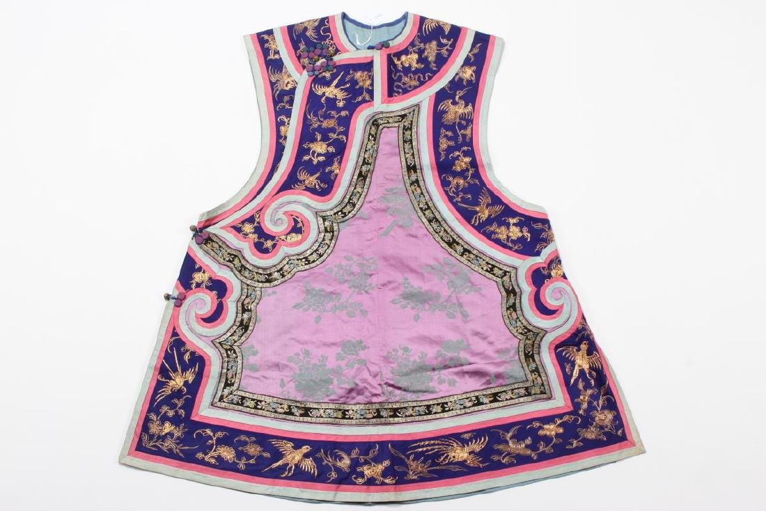 Chinese Late Qing Manchu Ladies Long Vest, c.1880,