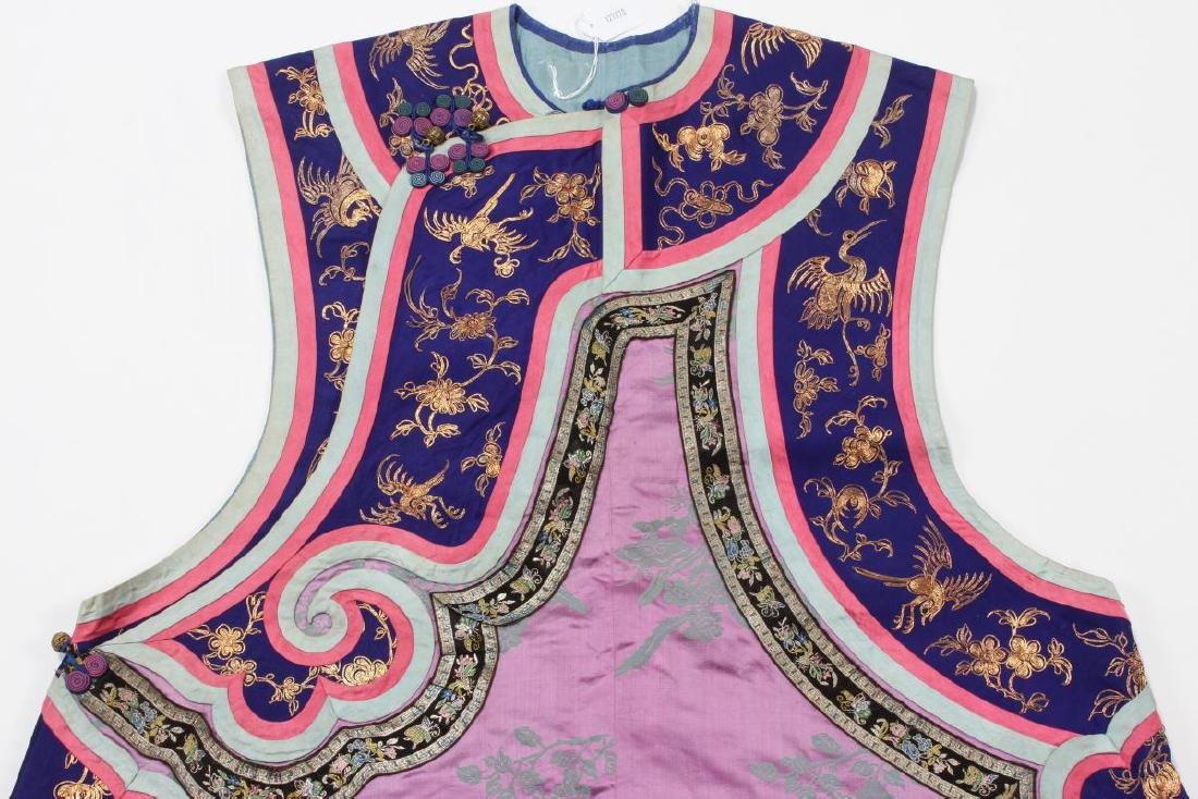 Chinese Late Qing Manchu Ladies Long Vest, c.1880, - 3