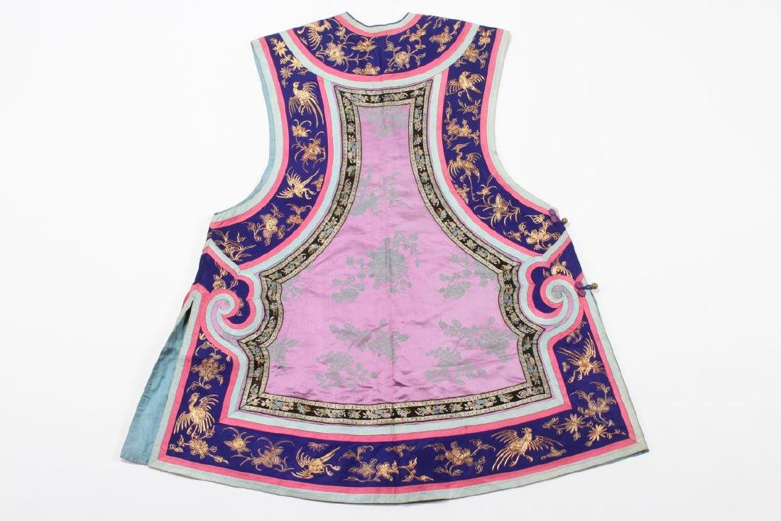 Chinese Late Qing Manchu Ladies Long Vest, c.1880, - 8