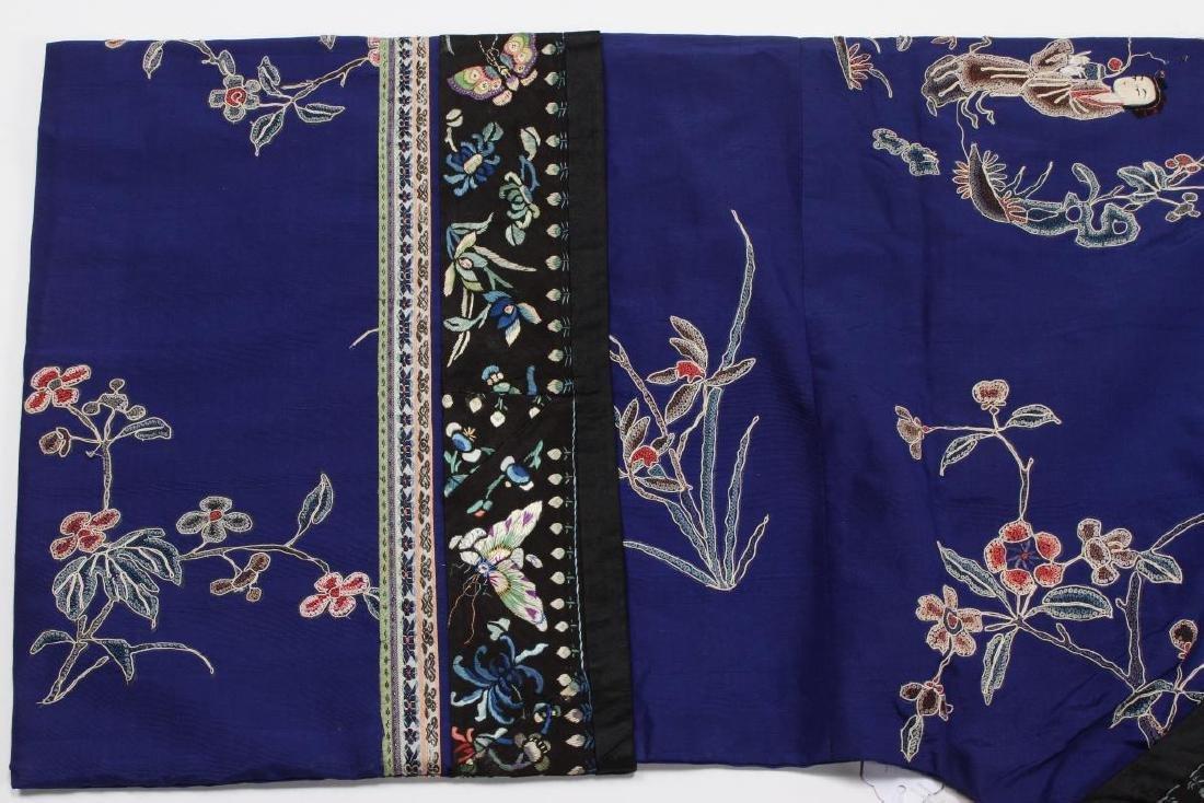 Chinese Late Qing Manchu Silk Long Robe, c.1890, - 10