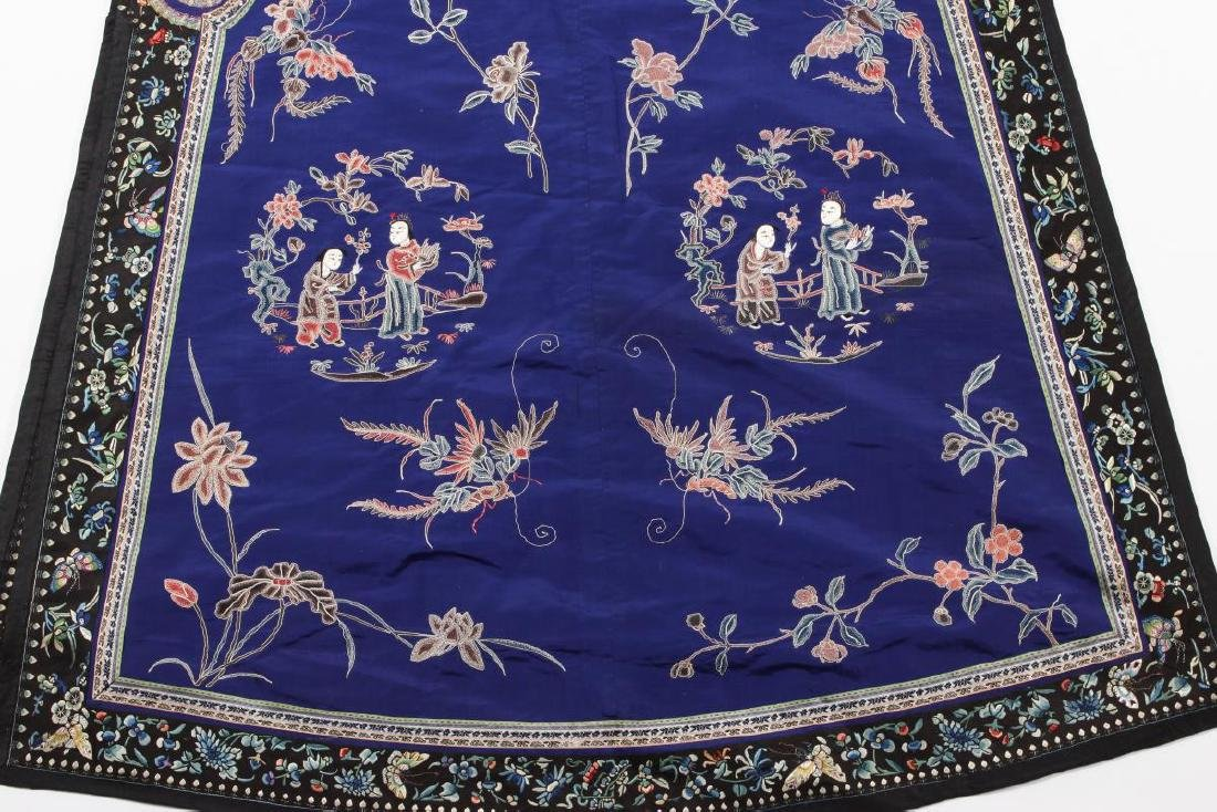 Chinese Late Qing Manchu Silk Long Robe, c.1890, - 2
