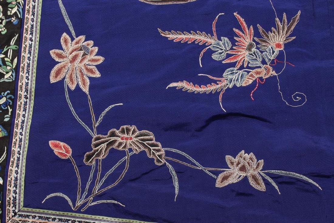 Chinese Late Qing Manchu Silk Long Robe, c.1890, - 3