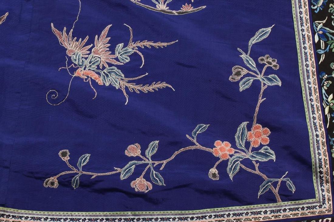 Chinese Late Qing Manchu Silk Long Robe, c.1890, - 4