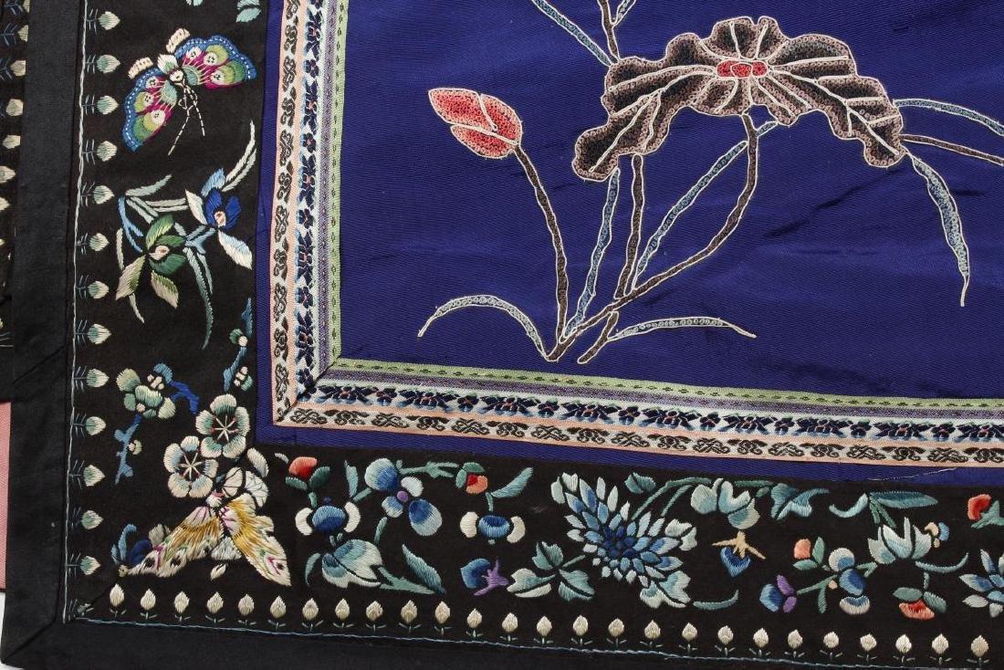 Chinese Late Qing Manchu Silk Long Robe, c.1890, - 5