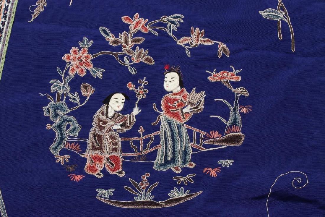Chinese Late Qing Manchu Silk Long Robe, c.1890, - 6