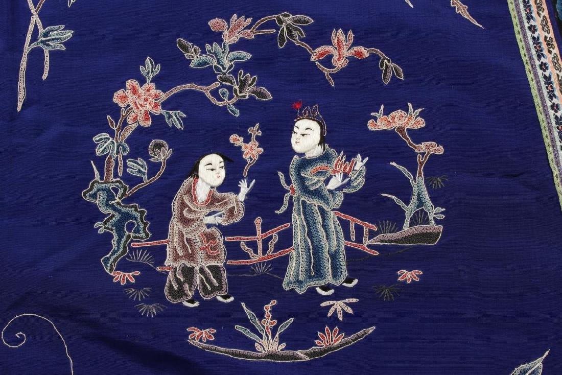 Chinese Late Qing Manchu Silk Long Robe, c.1890, - 7
