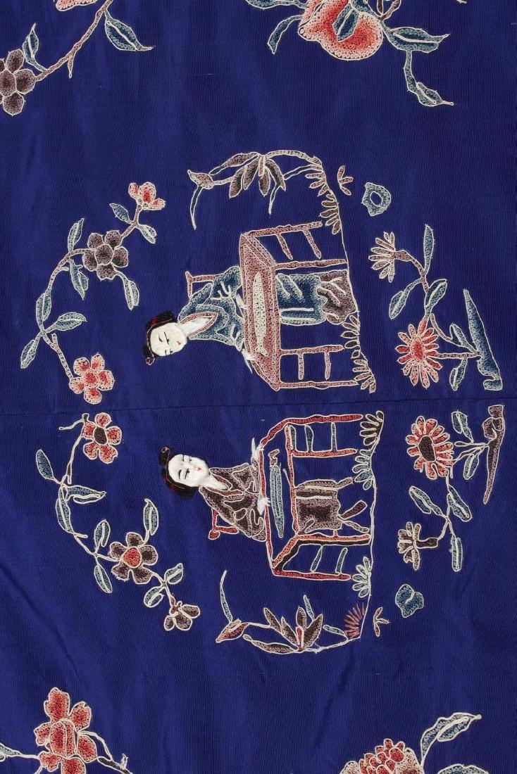 Chinese Late Qing Manchu Silk Long Robe, c.1890, - 8