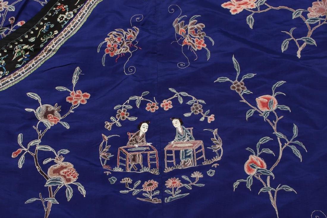 Chinese Late Qing Manchu Silk Long Robe, c.1890, - 9