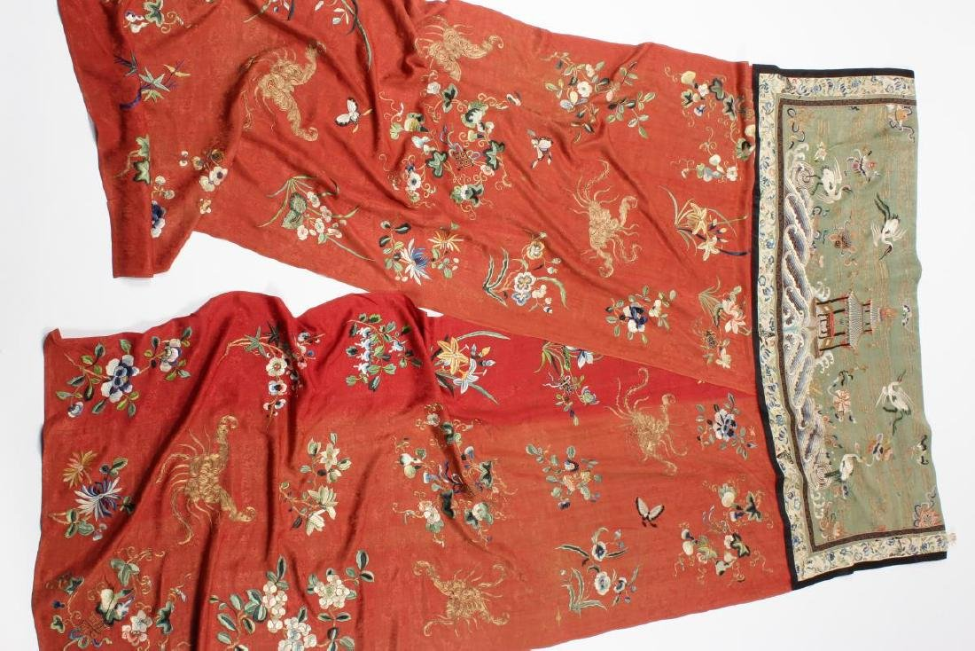 Stunning Chinese Silk, Cotton and Gold Thread