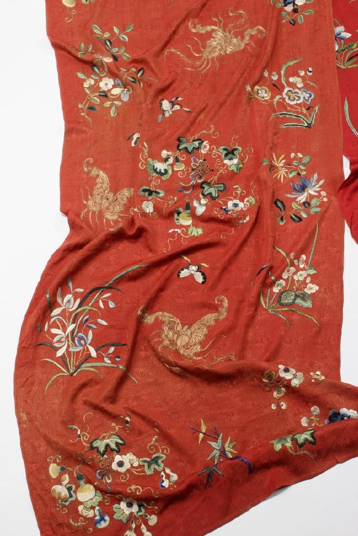 Stunning Chinese Silk, Cotton and Gold Thread - 2