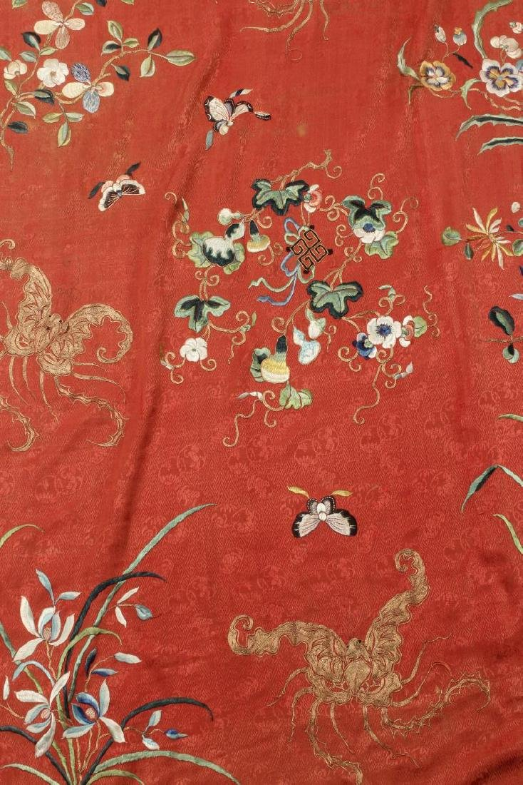 Stunning Chinese Silk, Cotton and Gold Thread - 3