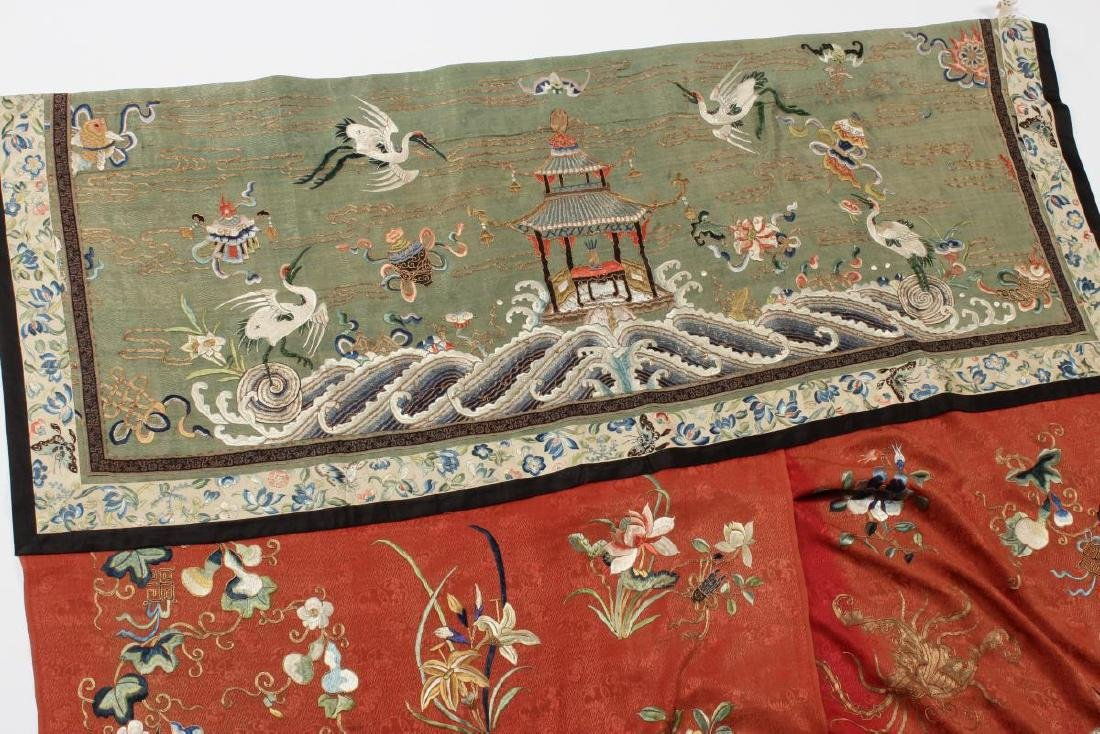 Stunning Chinese Silk, Cotton and Gold Thread - 7
