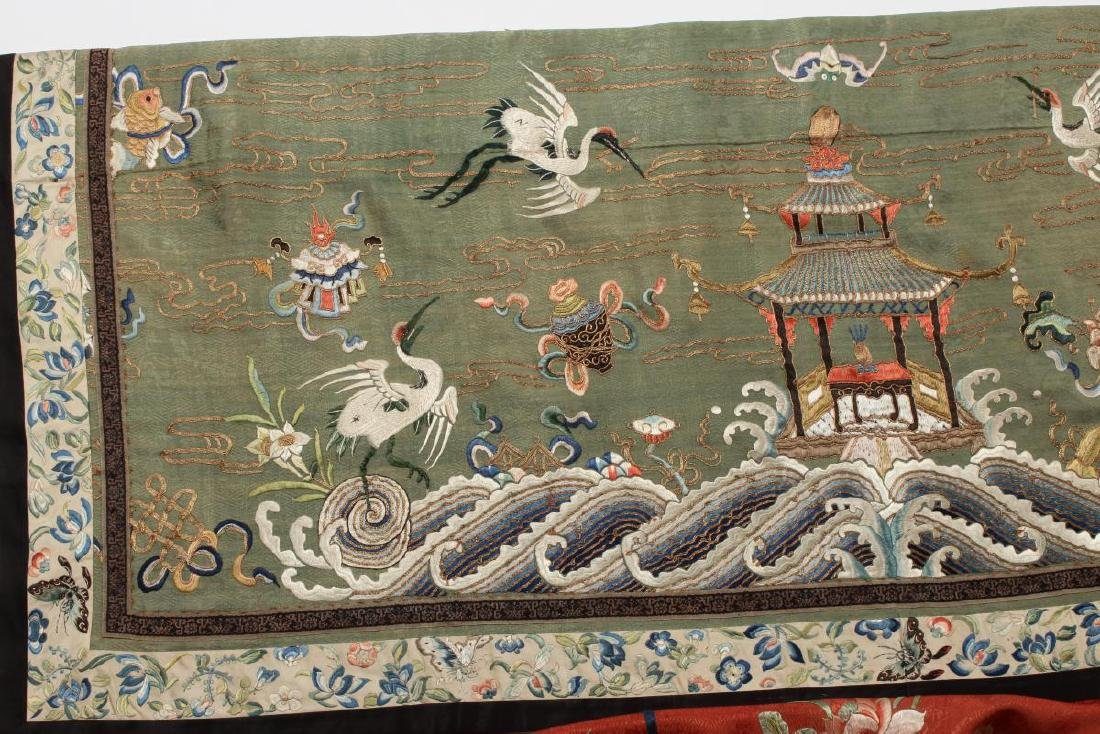 Stunning Chinese Silk, Cotton and Gold Thread - 8