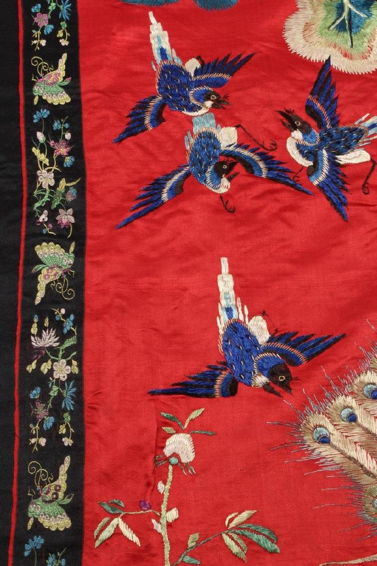 Chinese Silk Embroidered Textile Door Panel, - 5