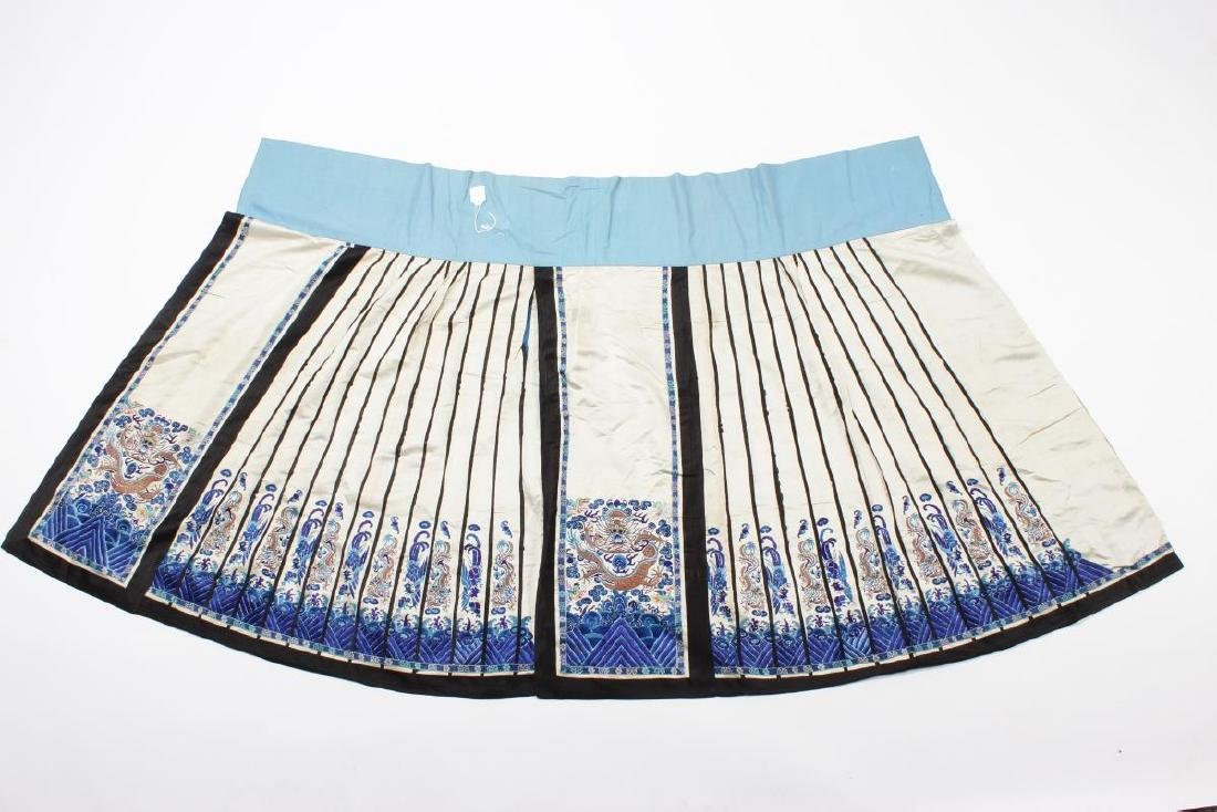 Chinese Early Republic Han Satin Wedding Skirt,