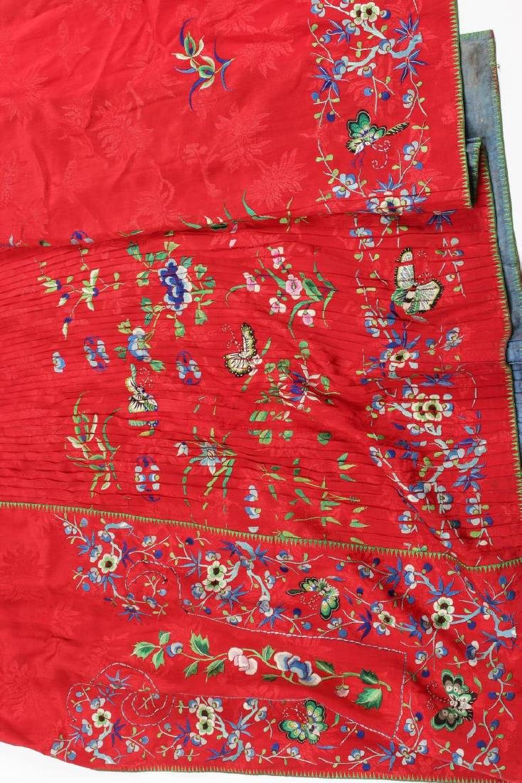 Two Chinese Republic Embroidered Skirts, - 2
