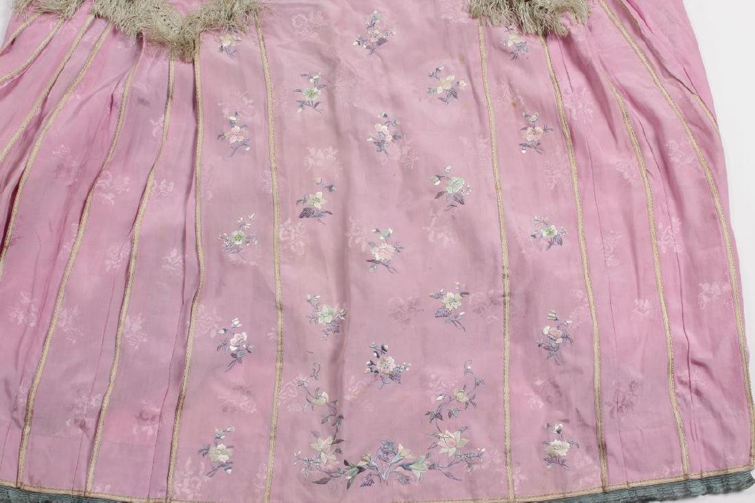 Two Chinese Republic Embroidered Skirts, - 3