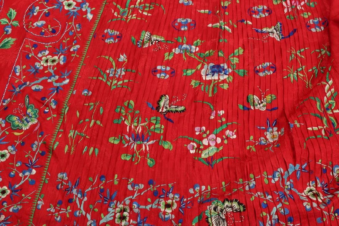 Two Chinese Republic Embroidered Skirts, - 4