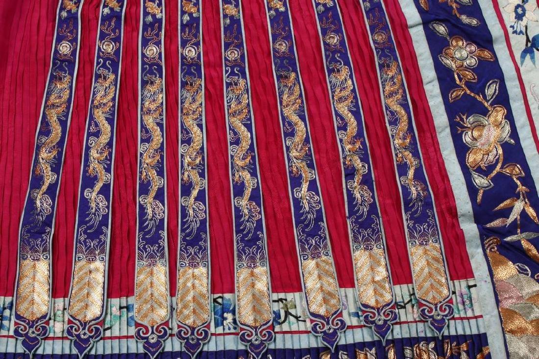 Chinese Late Qing Han Silk Wedding Skirt, - 2