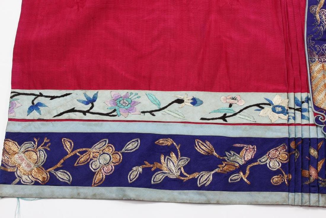 Chinese Late Qing Han Silk Wedding Skirt, - 3